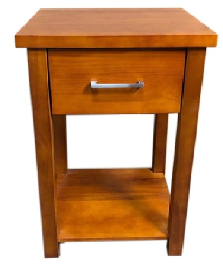 Classic Honey 1 Drawer Bedside